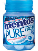 MENTOS GUM PURE FRESHMINT BOTTLE 30P