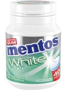 MENTOS GUM WHITE GREEN MINT BOTTLE 40P