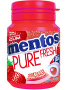 MENTOS GUM PURE FRESH STRAWBERRY BOTTLE 30P