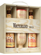 COFFRET WATERLOO 8° 2X75CL + 2 CALICES