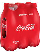 COCA COLA PET 50CL 6-PACK