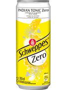 SCHWEPPES INDIAN TONIC ZERO SLEEK CANS 33CL