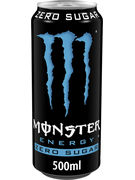 MONSTER ABSOLUTELY ZERO CANS 50CL 4-PACK
