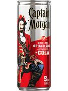 CAPTAIN MORGAN & COLA 5° CANS 25CL