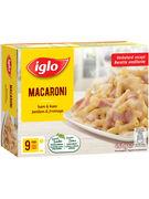 IGLO MACARONI FROMAGE-JAMBON 450GR