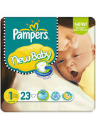 PAMPERS NEW BABY SIZE 1 23P (OV 4)