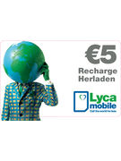LYCAMOBILE RECHARGE 5€