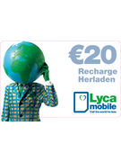 LYCAMOBILE RECHARGE 20€