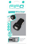 DUAL USB CAR CHARGER MICRO USB + USB CABLE (10322)