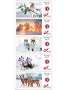 TIMBRES THEMA HIVER NATIONAUX 10P