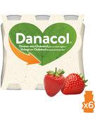 DAN.DANACOL 0% FRAISE 6X100G